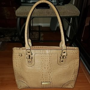 NWOT Etienne Aigner 100%Cow Leather tote 3 section